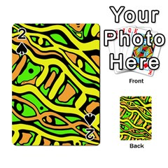 Yellow, green and oragne abstract art Playing Cards 54 Designs