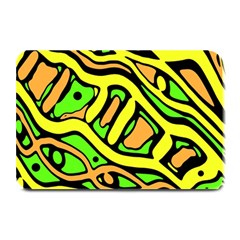 Yellow, green and oragne abstract art Plate Mats