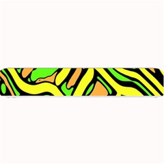 Yellow, green and oragne abstract art Small Bar Mats