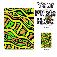 Yellow, green and oragne abstract art Multi-purpose Cards (Rectangle)