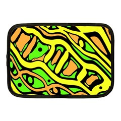 Yellow, green and oragne abstract art Netbook Case (Medium)