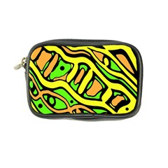 Yellow, green and oragne abstract art Coin Purse