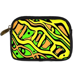 Yellow, green and oragne abstract art Digital Camera Cases