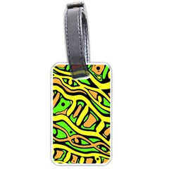 Yellow, green and oragne abstract art Luggage Tags (Two Sides)