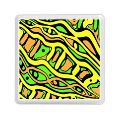 Yellow, green and oragne abstract art Memory Card Reader (Square)
