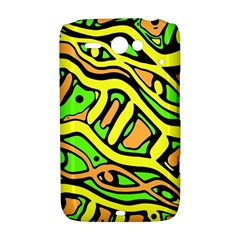 Yellow, green and oragne abstract art HTC ChaCha / HTC Status Hardshell Case
