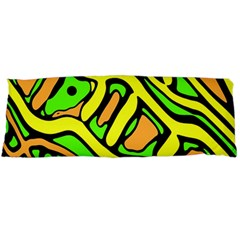 Yellow, green and oragne abstract art Body Pillow Case (Dakimakura)
