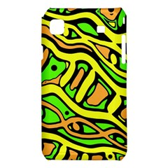 Yellow, green and oragne abstract art Samsung Galaxy S i9008 Hardshell Case