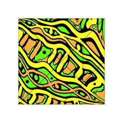Yellow, green and oragne abstract art Acrylic Tangram Puzzle (4  x 4 )