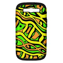 Yellow, green and oragne abstract art Samsung Galaxy S III Hardshell Case (PC+Silicone)