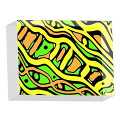 Yellow, green and oragne abstract art 5 x 7  Acrylic Photo Blocks