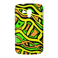Yellow, green and oragne abstract art Samsung Galaxy Duos I8262 Hardshell Case