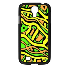 Yellow, green and oragne abstract art Samsung Galaxy S4 I9500/ I9505 Case (Black)