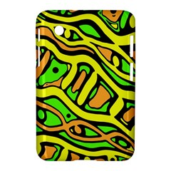 Yellow, green and oragne abstract art Samsung Galaxy Tab 2 (7 ) P3100 Hardshell Case