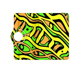 Yellow, green and oragne abstract art Kindle Fire HDX 8.9  Flip 360 Case