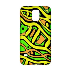 Yellow, green and oragne abstract art Samsung Galaxy S5 Hardshell Case