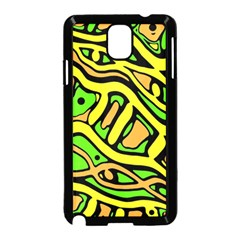 Yellow, green and oragne abstract art Samsung Galaxy Note 3 Neo Hardshell Case (Black)