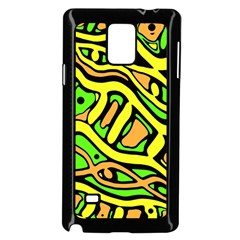 Yellow, green and oragne abstract art Samsung Galaxy Note 4 Case (Black)