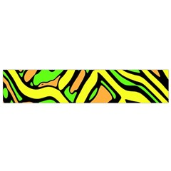 Yellow, green and oragne abstract art Flano Scarf (Small)