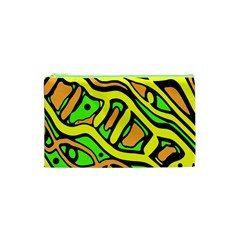 Yellow, green and oragne abstract art Cosmetic Bag (XS)