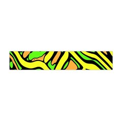 Yellow, Green And Oragne Abstract Art Flano Scarf (mini)