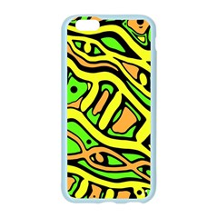 Yellow, green and oragne abstract art Apple Seamless iPhone 6/6S Case (Color)