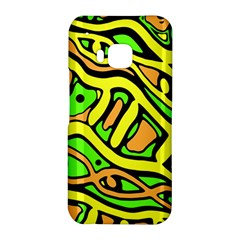 Yellow, green and oragne abstract art HTC One M9 Hardshell Case