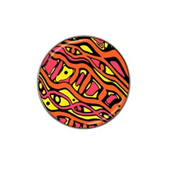 Orange hot abstract art Hat Clip Ball Marker