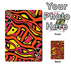 Orange hot abstract art Playing Cards 54 Designs