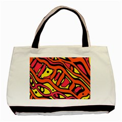 Orange hot abstract art Basic Tote Bag (Two Sides)