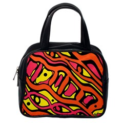 Orange hot abstract art Classic Handbags (One Side)