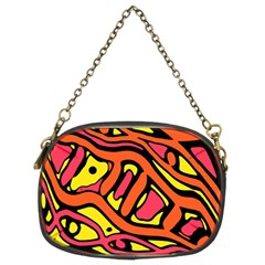 Orange hot abstract art Chain Purses (Two Sides)