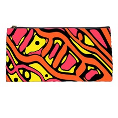 Orange hot abstract art Pencil Cases