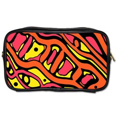 Orange hot abstract art Toiletries Bags