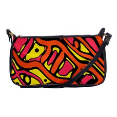 Orange hot abstract art Shoulder Clutch Bags