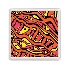 Orange Hot Abstract Art Memory Card Reader (square)