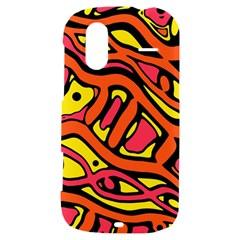 Orange hot abstract art HTC Amaze 4G Hardshell Case