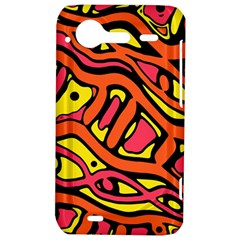 Orange hot abstract art HTC Incredible S Hardshell Case