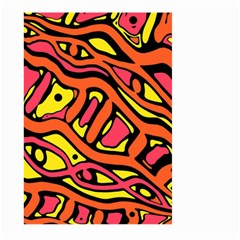Orange hot abstract art Large Garden Flag (Two Sides)