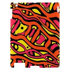 Orange hot abstract art Apple iPad 2 Hardshell Case