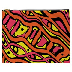 Orange hot abstract art Cosmetic Bag (XXXL)