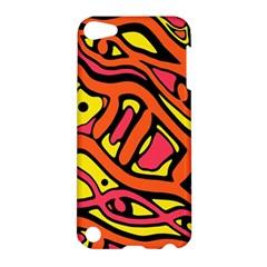 Orange hot abstract art Apple iPod Touch 5 Hardshell Case