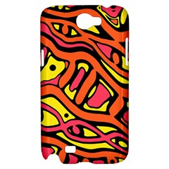 Orange hot abstract art Samsung Galaxy Note 2 Hardshell Case