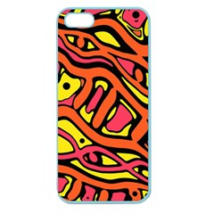 Orange hot abstract art Apple Seamless iPhone 5 Case (Color)