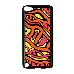 Orange hot abstract art Apple iPod Touch 5 Case (Black)