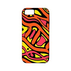 Orange hot abstract art Apple iPhone 5 Classic Hardshell Case (PC+Silicone)