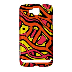 Orange hot abstract art Samsung Ativ S i8750 Hardshell Case