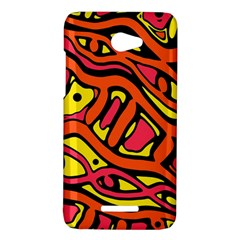 Orange hot abstract art HTC Butterfly X920E Hardshell Case
