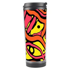 Orange hot abstract art Travel Tumbler