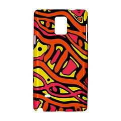 Orange hot abstract art Samsung Galaxy Note 4 Hardshell Case